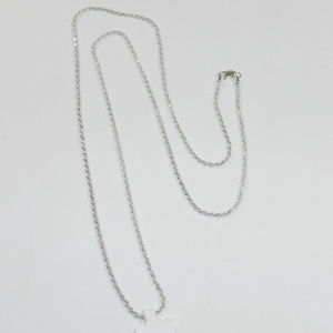 Jewelry - Long Sterling Silver Braided Necklace Chain